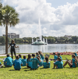 _Students at Lake Eola